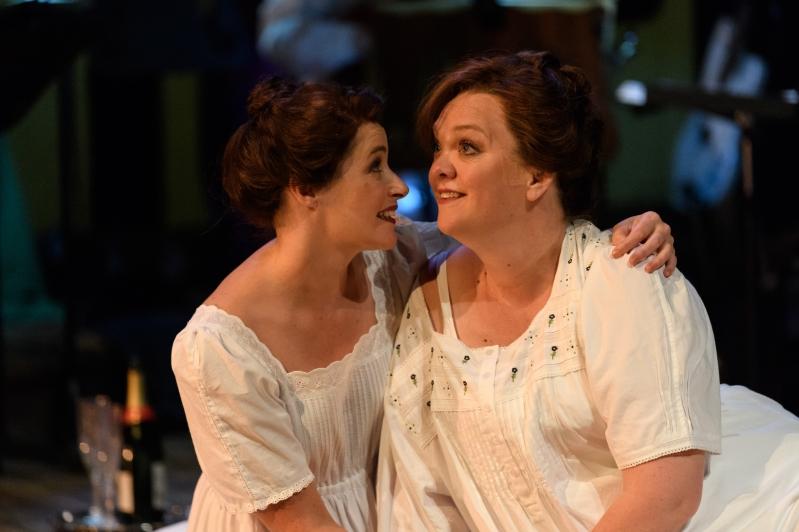 Helen Archdale puts her arm around Lady Rhondda