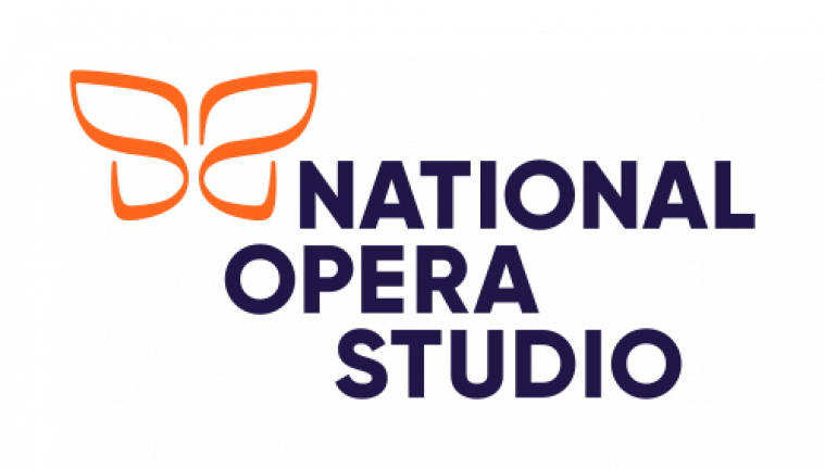 National Opera Studio logo - an orange, butterfly-like symbol and 'National Opera Studio' in dark blue/purple font.