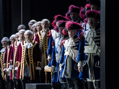 Image of Male chorus on stage