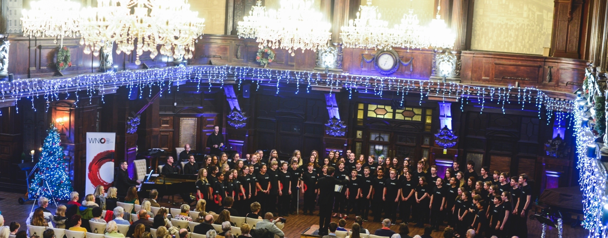 WNO Youth Opera and Community Chorus on stage.