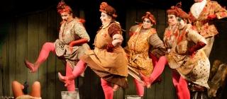 Image of chorus hens dancing
